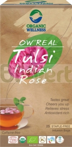 Herbata Tulsi Indian Rose BIO 20x1,55g Ow'Real